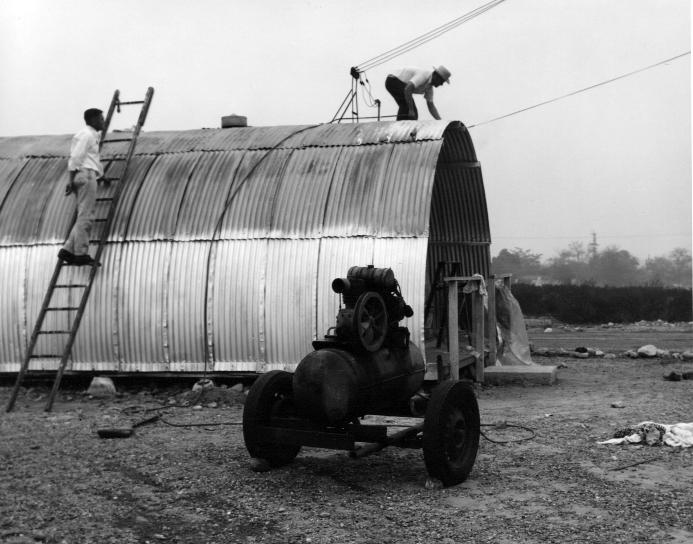 construction of the Quonset hut